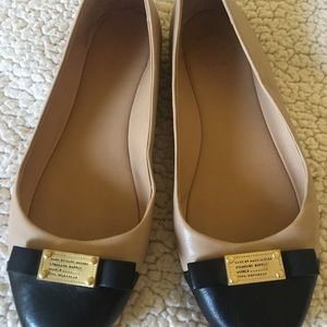 Marc by Jacobs Flats Tan Leather Shoes 37.5. 7.5